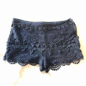 Lace Scalloped Shorts